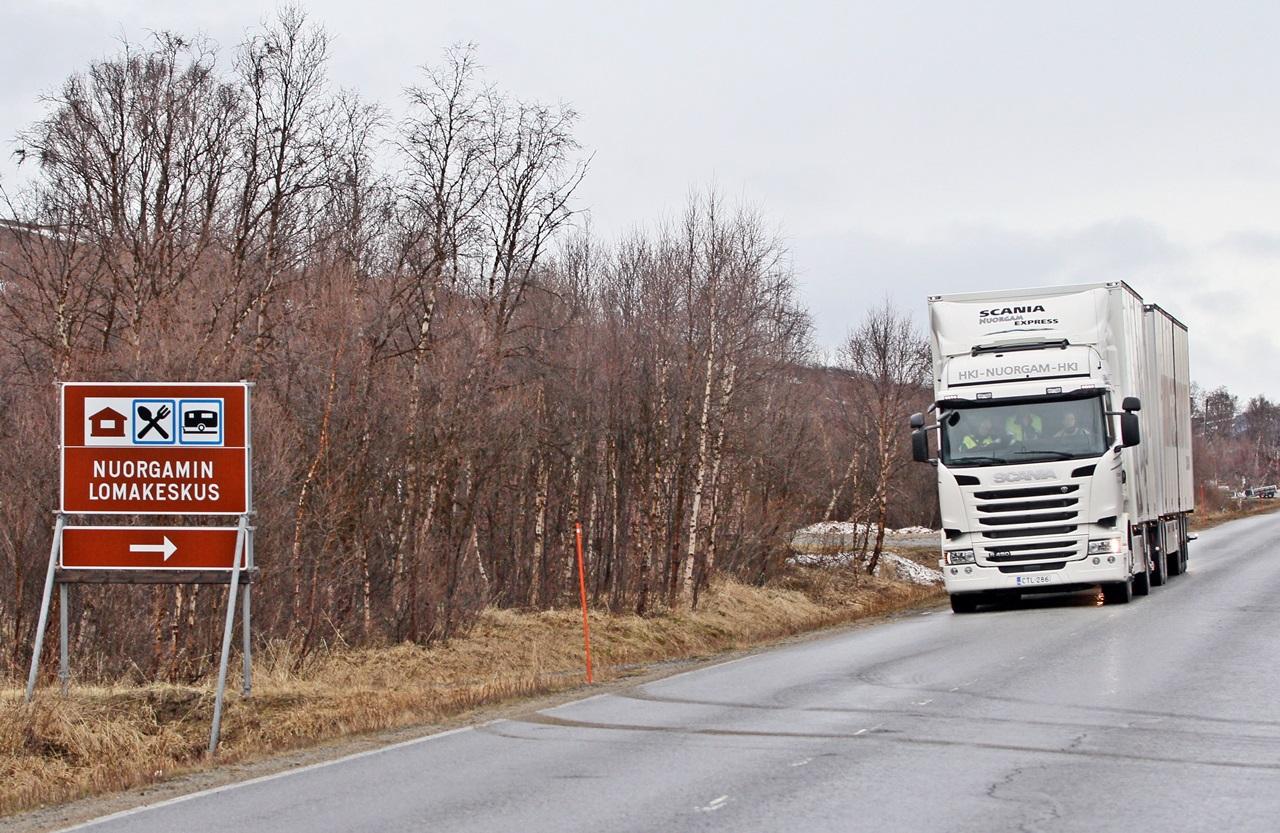 Tenojoen varrella, Suomen pohjoisimmassa kolkassa sijaitseva Nuorgamin lomakeskus toimi koeajon puolivälietappina.